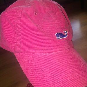 Pink Vineyard Vines Corduroy Hat